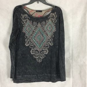 Vocal long sleeve bling T-shirt size extra large